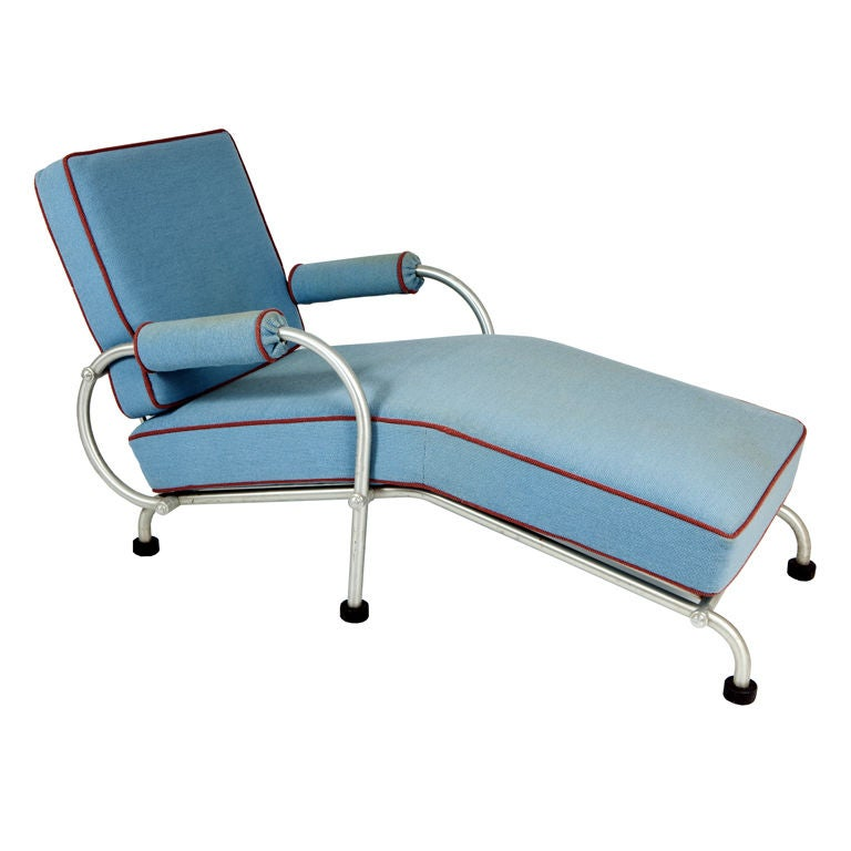 Warren mcarthur american art deco chaise lounge at 1stdibs for Art deco chaise lounge