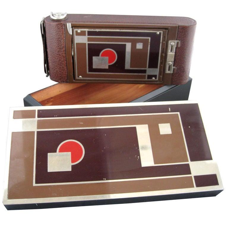 Walter Dorwin Teague Kodak Camera And Box At 1stdibs