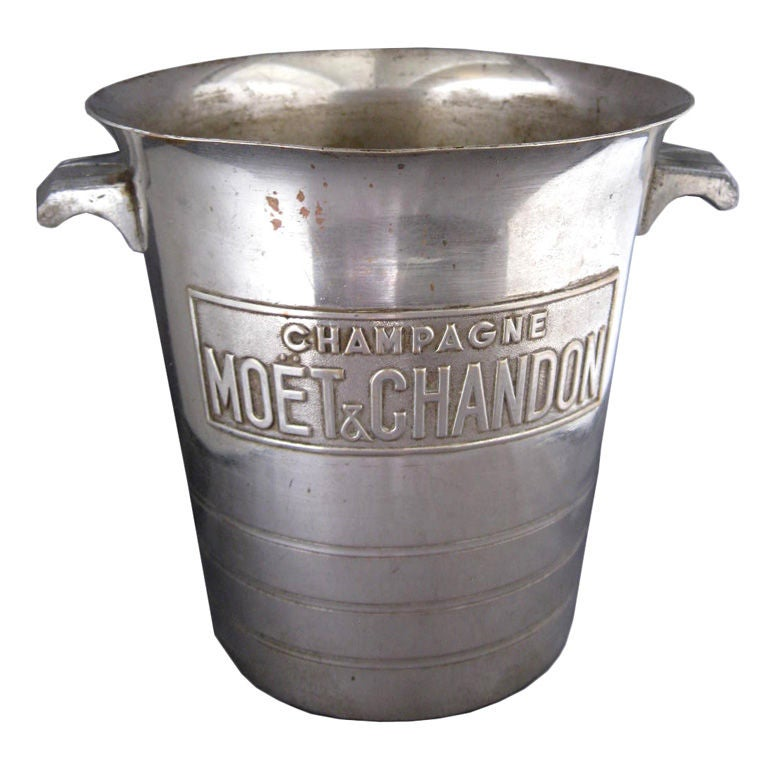 Vintage French Art Deco Moet And Chandon Champagne Bucket
