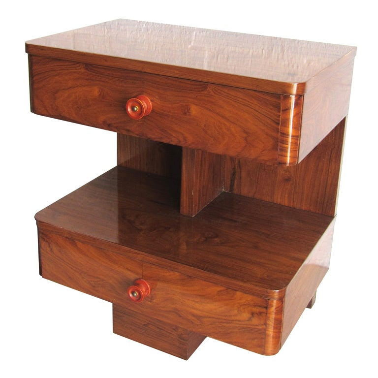 American Art Deco Rosewood Sofa Side Table At 1stdibs