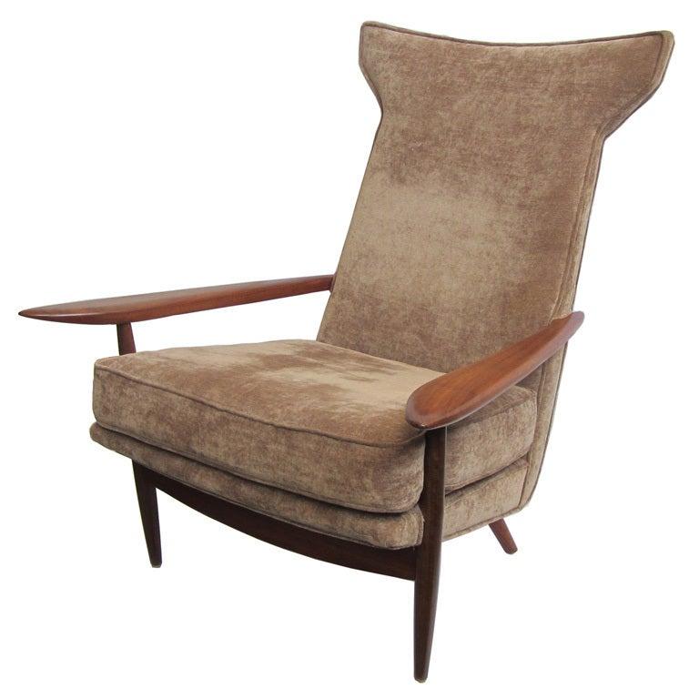 George nakashima mid century modern design hi back lounge for Mid century modern furniture hawaii