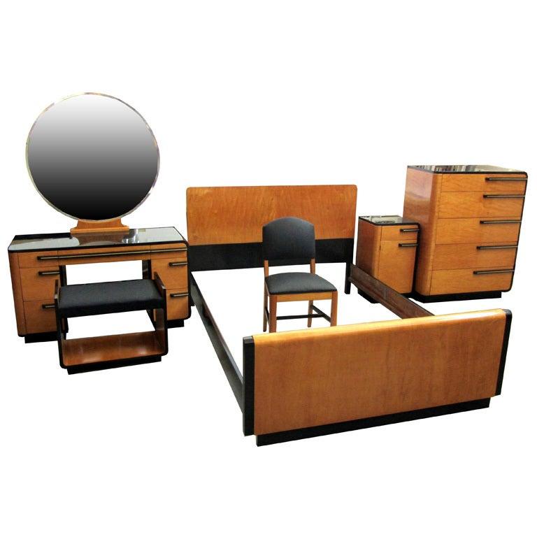 Donald Deskey American Art Deco Bedroom Set For Kroehler At 1stdibs