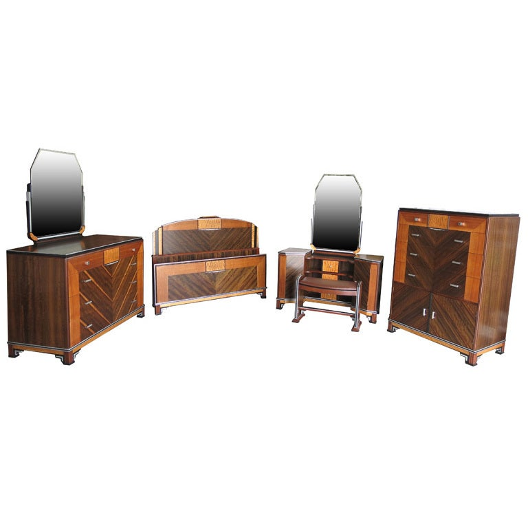 Https Www 1stdibs Com Furniture More Furniture Collectibles Bedroom Sets American Art Deco Skyscraper Bedroom Set Id F 668084