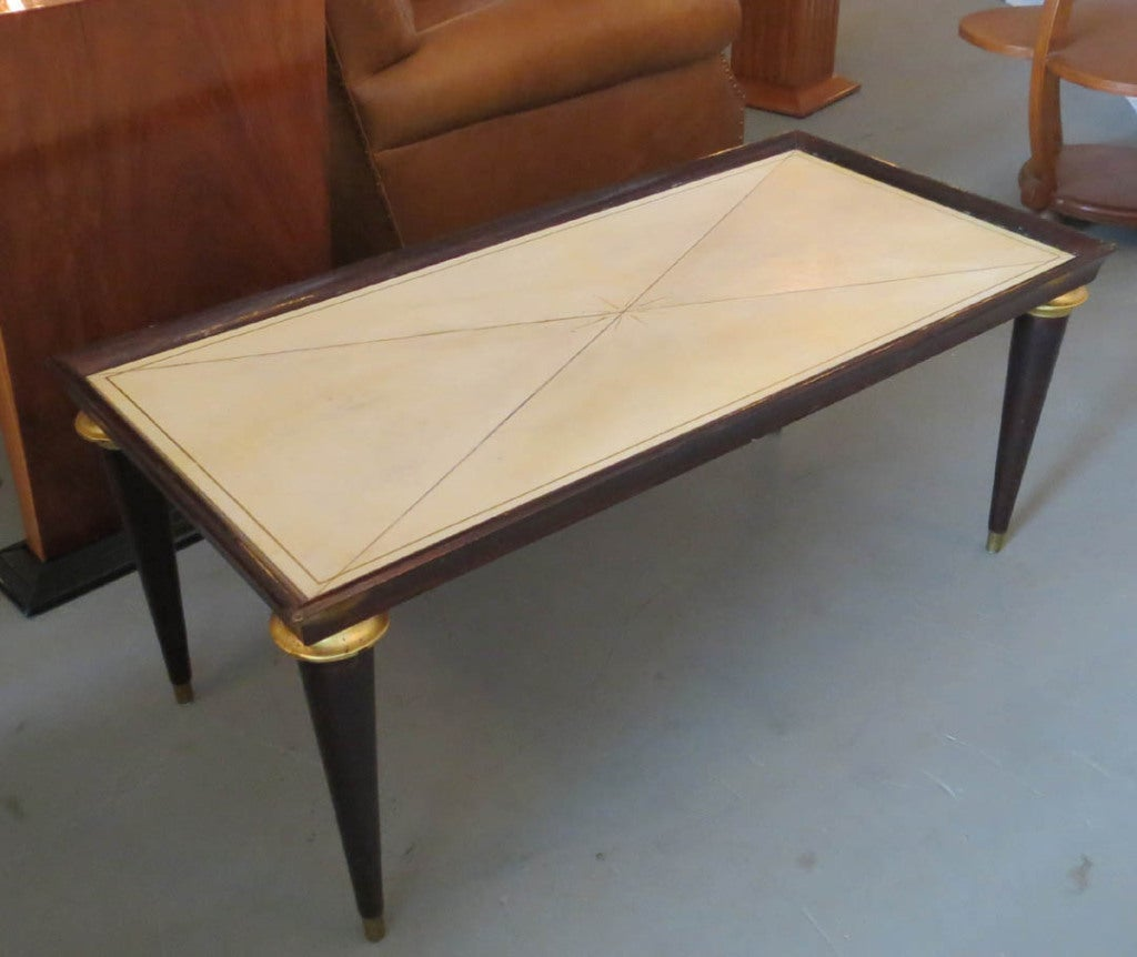 Maison Jansen French Art Deco Parchment Coffee Table At 1stdibs