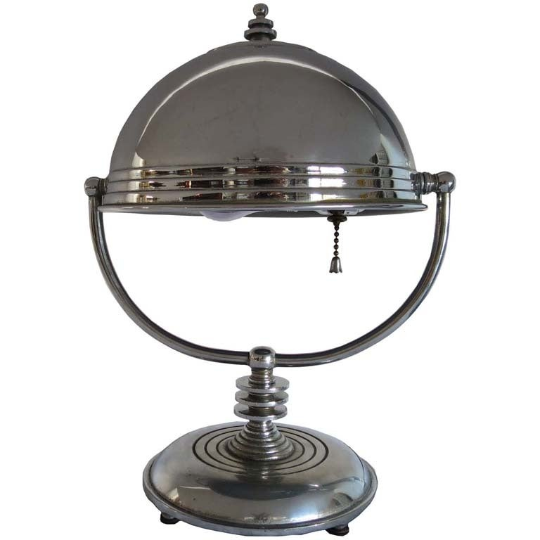 markel american art deco swivel shade table lamp at 1stdibs. Black Bedroom Furniture Sets. Home Design Ideas