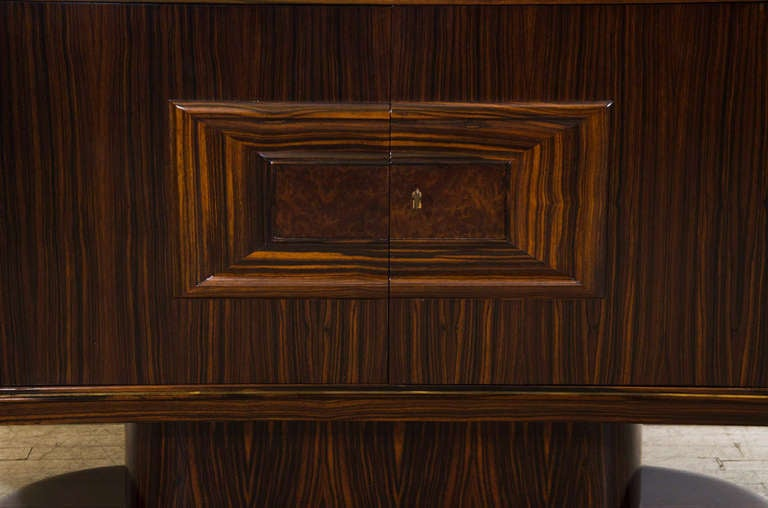 Art Moderne Bar or Serving Cabinet in Macassar Ebony 3