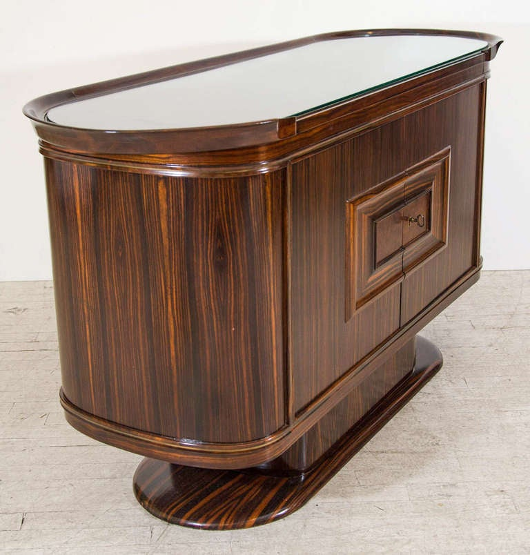 Art Moderne Bar or Serving Cabinet in Macassar Ebony 5