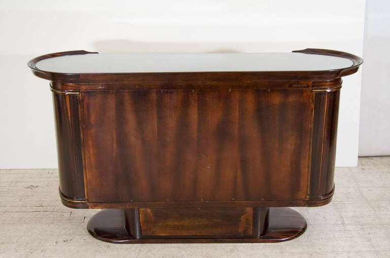Art Moderne Bar or Serving Cabinet in Macassar Ebony 8