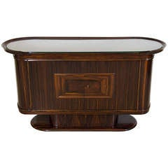 Art Moderne Bar or Serving Cabinet in Macassar Ebony