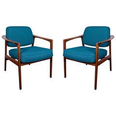 Pair of Lounge Chairs by Folke Ohlsson for DUX