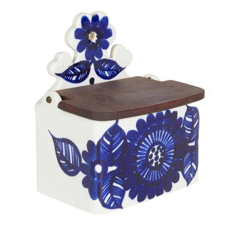 Arabia Atelje Box with Hinged Wood Lid