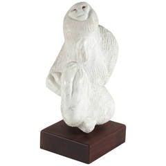 Marble Monkey Sculpture
