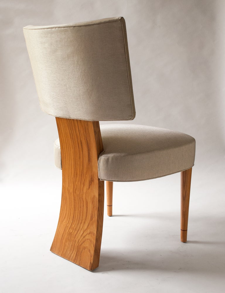 Set 6 Swedish Art Deco Dining Chairs In Elm Featuring 3