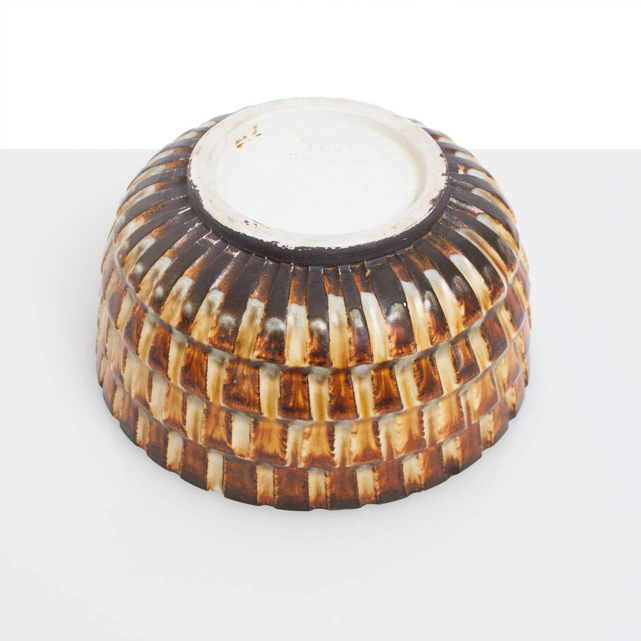 20th Century Scandinavian Modern Textured Ceramic Bowl by Gertrud Lonegren, Rörstrand For Sale