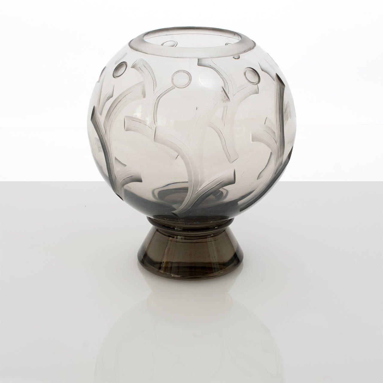 Scandinavian modern art deco etched glass vase by simon gate for swedish scandinavian modern art deco etched glass vase by simon gate for orrefors for sale reviewsmspy