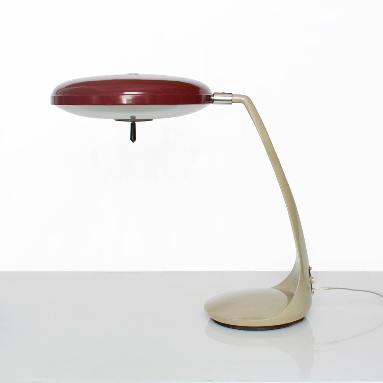 midcentury modern lupela desk lamp in rare red color spain  - midcentury modern lupela desk lamp in rare red color spain s