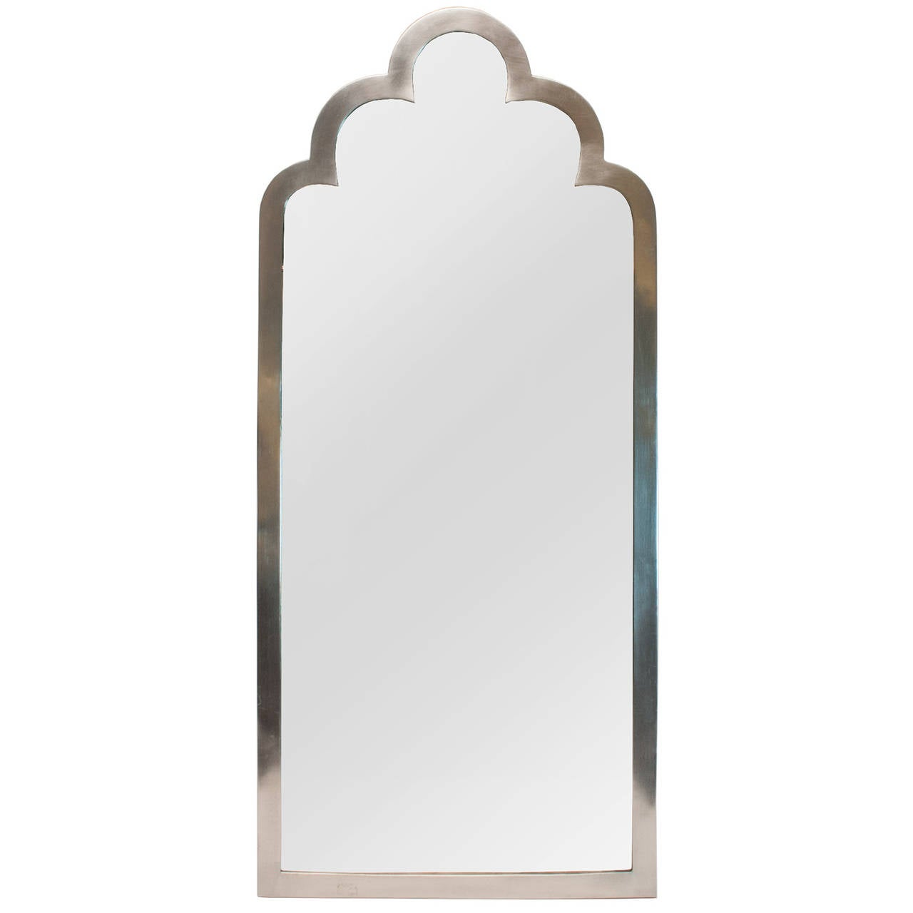 Small Swedish Art Deco Mirror Made Of Polished Pewter At