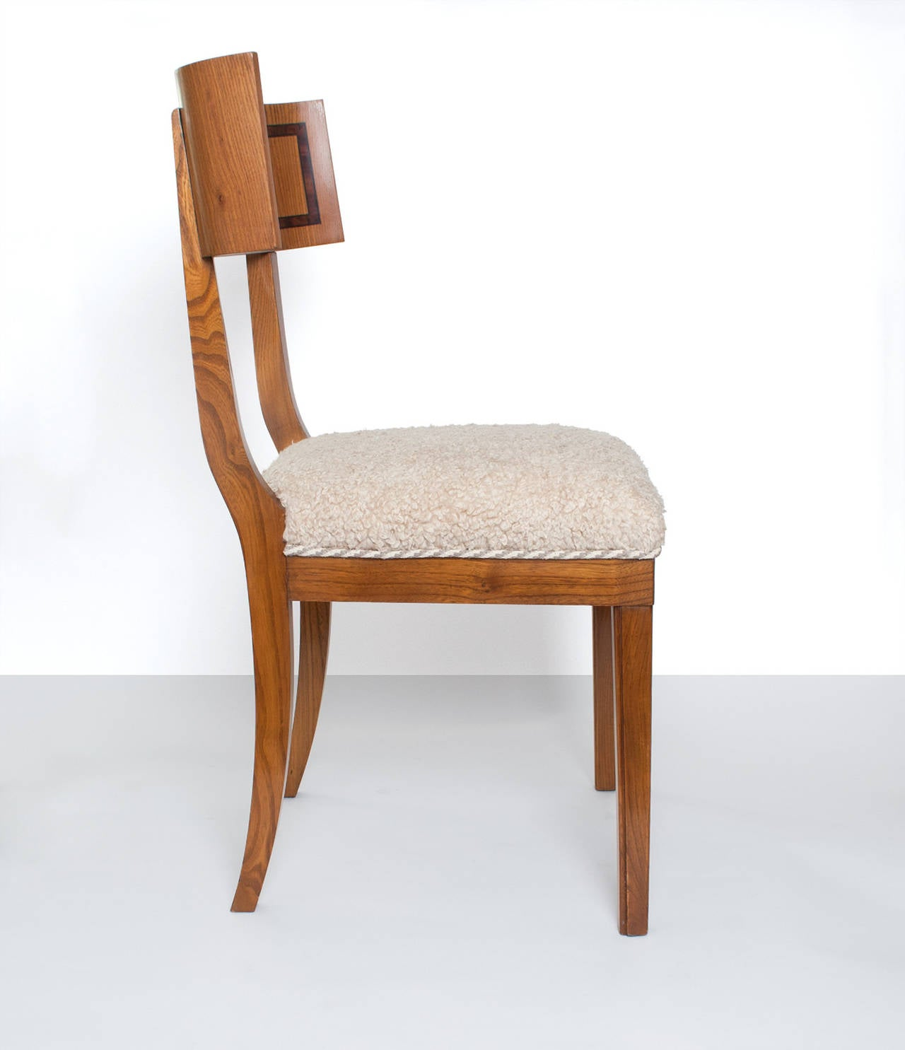 Modern Klismos Chair: Scandinavian Modern Klismos Dining Chairs In Elm Set Of