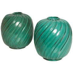 Pair of Scandinavian Modern Vases, Anna-Lisa Thomson, Upsala Ekeby