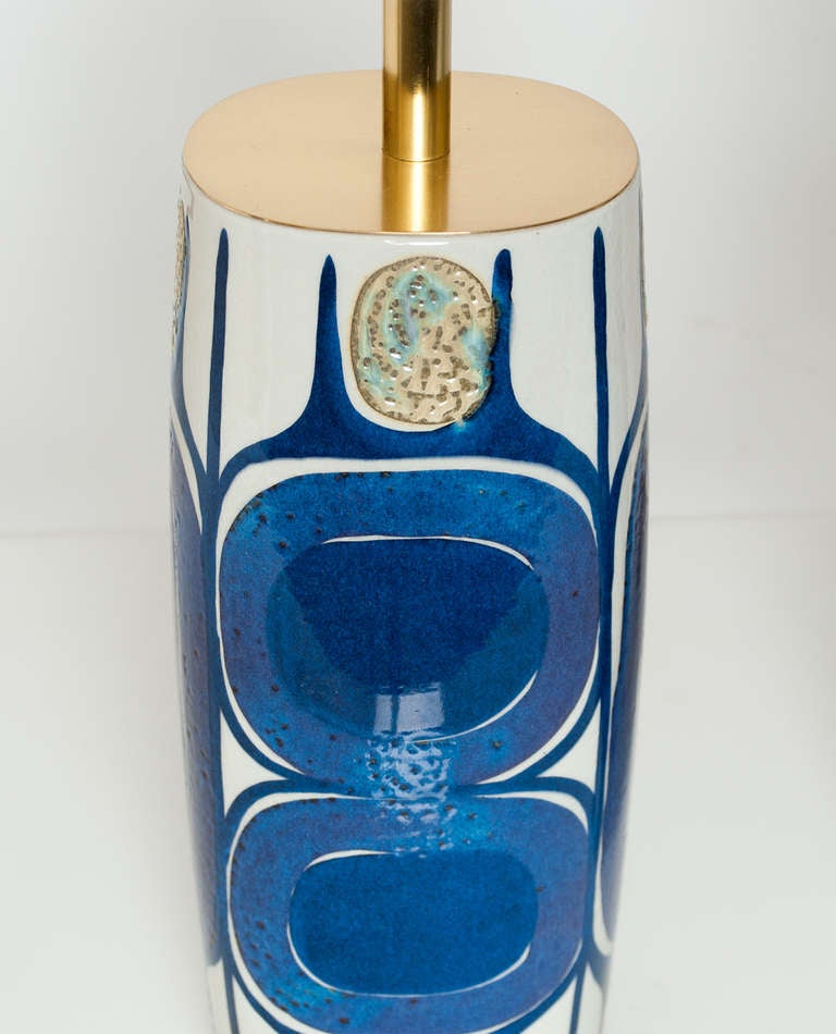 20th Century Pair of Danish Mid Century Modern Porcelain Lamps Designed by Inge-Lise Koefoed