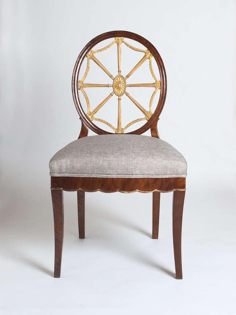 Set Of 4 Swedish Art Deco Chairs Designed By Otto Schulz Circa 1920. 3