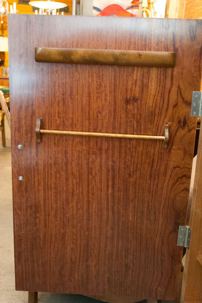Swedish Art Deco Two-Door Cabinet with Mahogany and Macassar Ebony Veneer For Sale 1