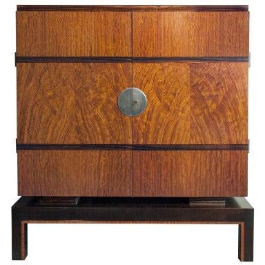Swedish Art Deco 2 Door Cabinet With Mahogany And Macassar