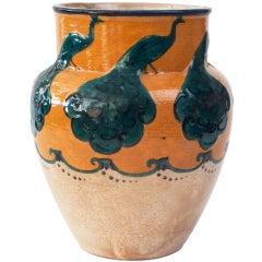 Swedish Art Nouveau ceramic vase by Alf Wallander, Rorstrand.