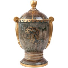 Very large Swedish Art Deco Covered Urn by Josef Ekberg, Gustavsberg