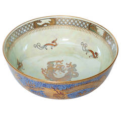"Large Wedgwood Fairyland Lustre Bowl ""Celestial Dragons"" by Daisy Makeig-Jones"