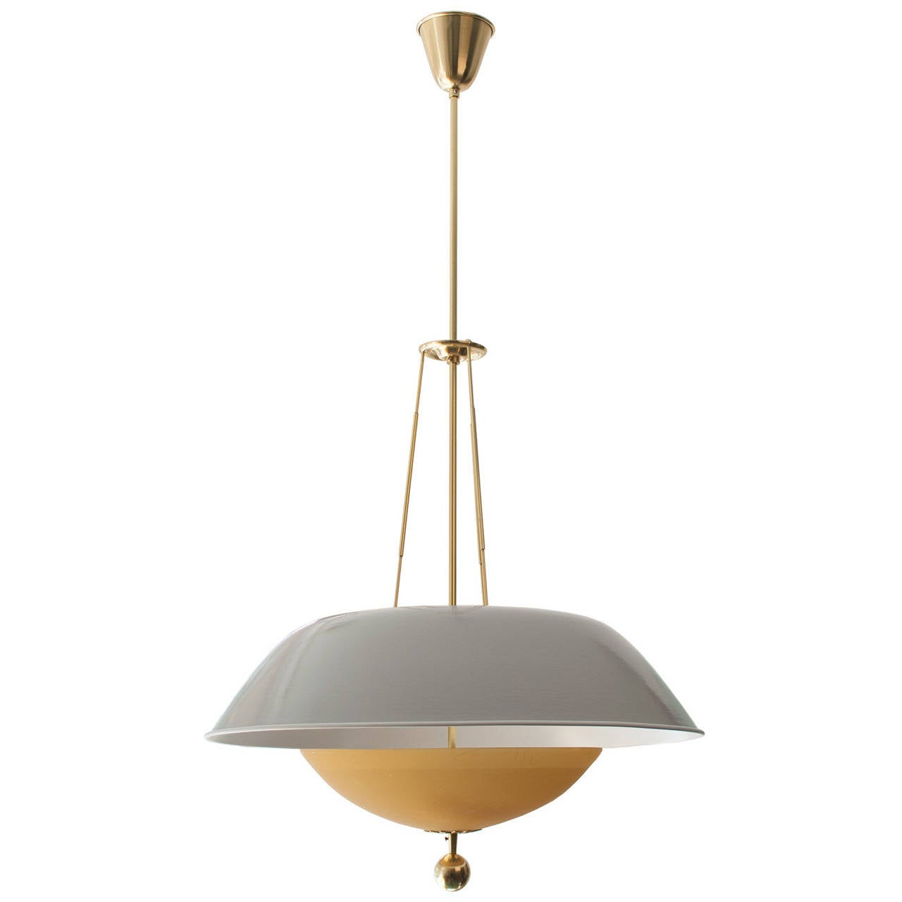 scandinavian mid century modern pendant with lacquered