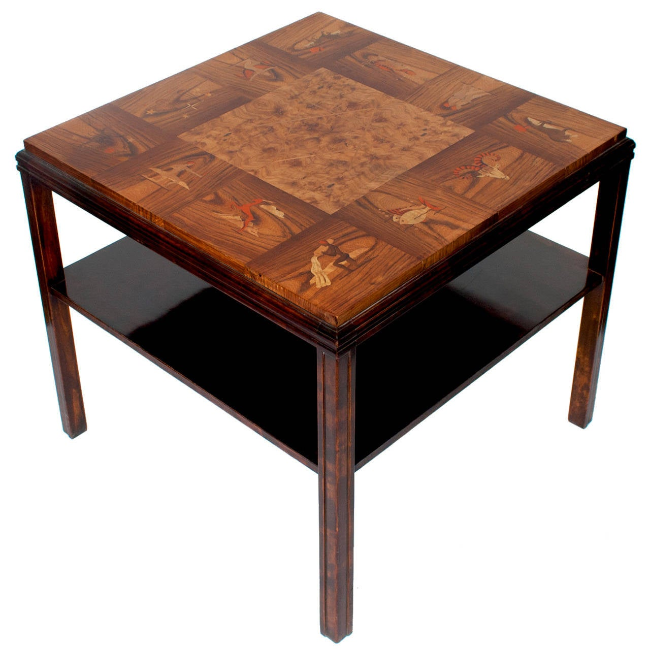 rare art deco marquetry table sweden with zodiac motif 1930 u0027s at