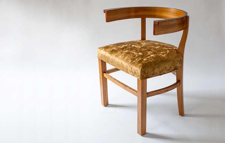 Scandinavian Modern Carl Bergsten Elm And Rosewood Klismos Chair