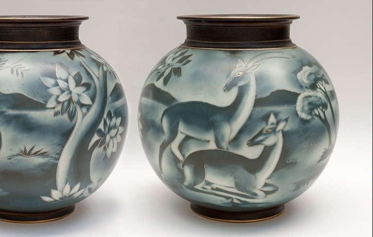 Swedish art deco vase by Gunnar Nylund for Rorstrand 5