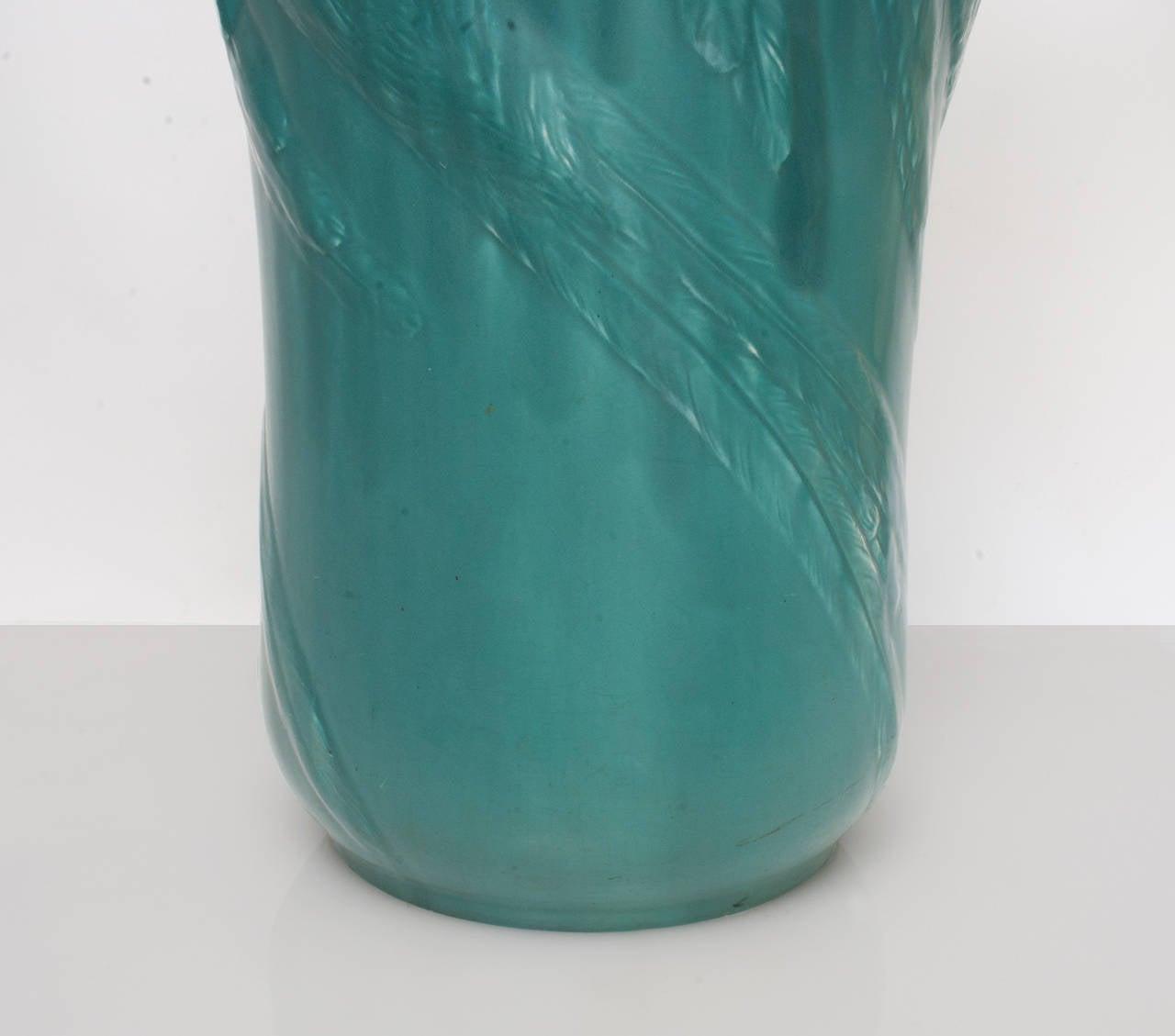 Glazed Large Swedish Ceramic Umbrella Stand or Vase by Alf Wallander for Rörstrand For Sale
