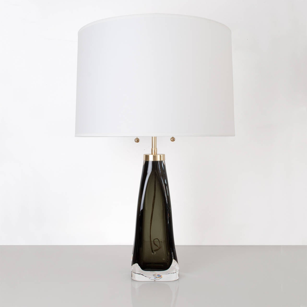 Mid century modern table lamp - Swedish Mid Century Modern Table Lamp By Carl Fagerlund For Orrefors Green 2