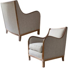 Pair of Swedish Art Deco Bergères by Oscar Edv. Ekelund, Wirserum.