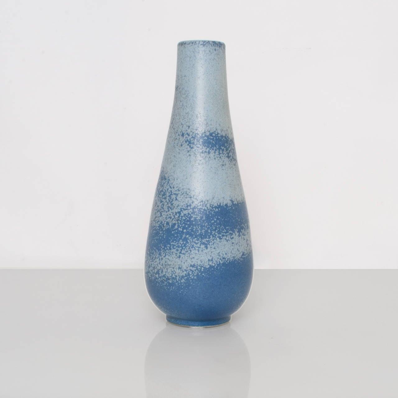 Scandinavian modern ceramic vase in light and dark blue by gunnar scandinavian modern ceramic vase in light and dark blue glaze by gunnar nylund for rorstrand reviewsmspy