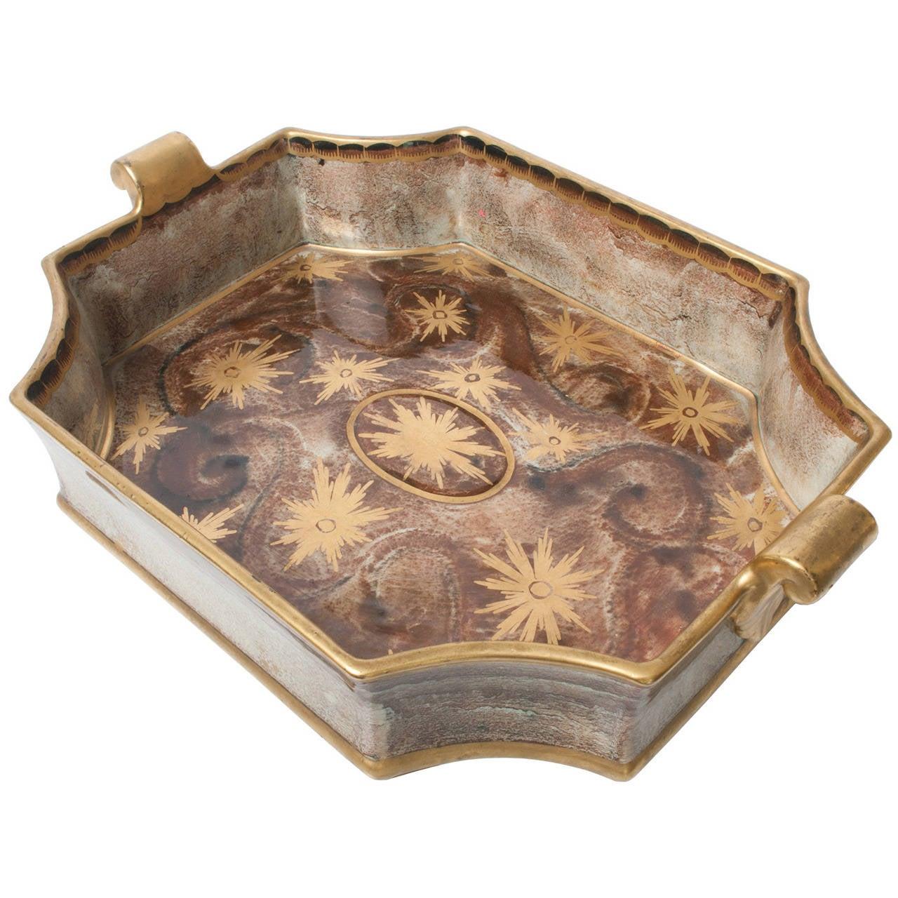 Swedish Art Deco Tray or Bowl by Josef Ekberg for Gustavsberg
