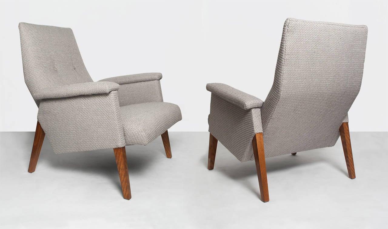 Scandinavian Modern Midcentury Modern Armchairs With