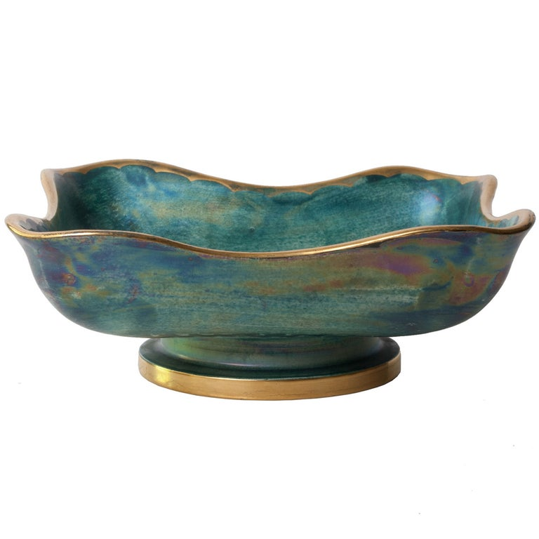 Scandinavian Modern Organic Form Bowl by Josef Ekberg For Sale