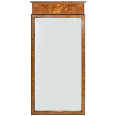 Swedish Art Deco Marquetry Mirror by Birger Ekman for Mjolby Intarsia