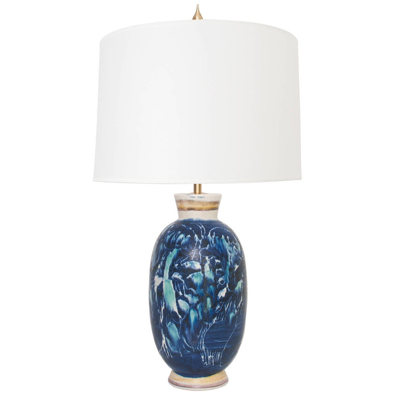 swedish unique ceramic table lamp by carl harry stalhane for sale at. Black Bedroom Furniture Sets. Home Design Ideas