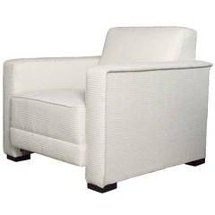 Scandinavian Modern Lounge Chair by Designer Artist Jules Schyl, Sweden, 1930s