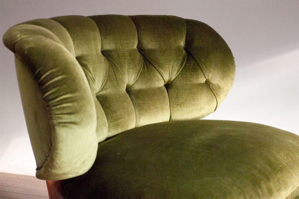 Wood Pair of Swedish mid-century slipper chairs Otto Schultz