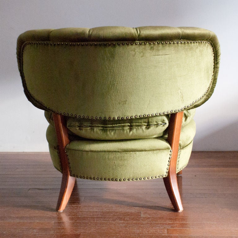 Pair of Swedish mid-century slipper chairs Otto Schultz 1