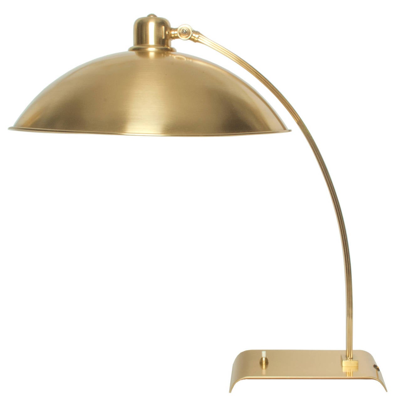Swedish modernist solid brass table lamp with adjustable for F k a table lamp
