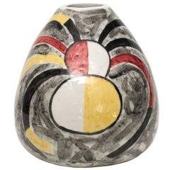 Scandinavian Modern Ceramic Organic Form Vase by Vilhelm Bjerke Petersen