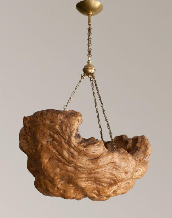 Large dramatic mid century Swedish tree base pendant