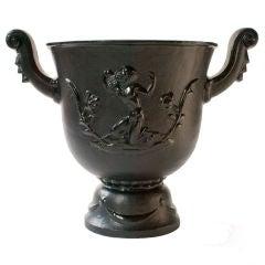 Ivar Johnsson satyr urn for Nafveqvarns Bruk Swedish Art Deco